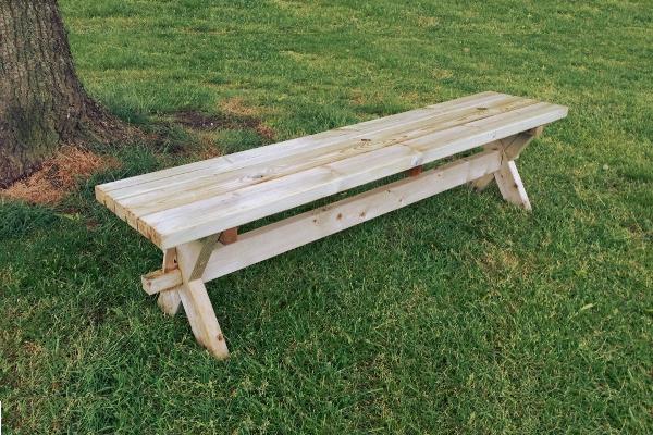 Rockwood picknicktafels massief grenen picknicktafels v a for Houten tuinbank zelf maken