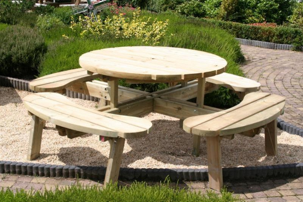 Table De Jardin Hexagonale Bois Id Es De Design Maison