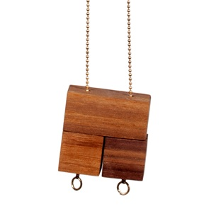 3 blocks ketting Walnoot*