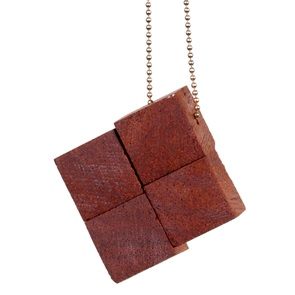 4 block Necklace Mahogany