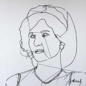 Schilderij Diana