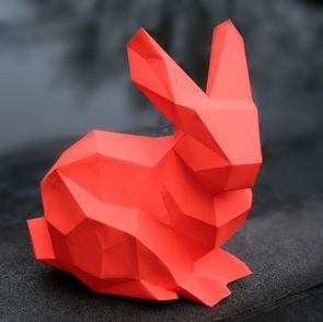 Paper kit Bunny neon rood*