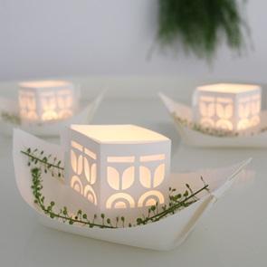 Resje floating Licht bootjes*