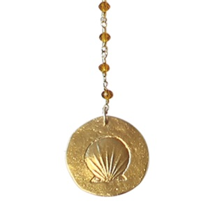 Rosary Long Shell orange ketting*