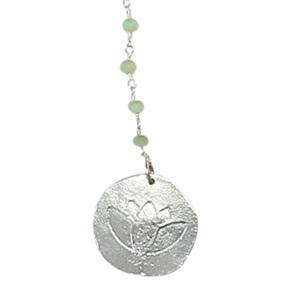 Rosary Long Lotus green ketting*