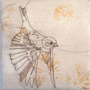 VERKOCHT Kunstwerkje Birds 1