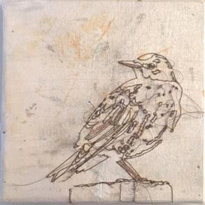 VERKOCHT Kunstwerkje Birds 4