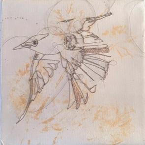 VERKOCHT Kunstwerkje Birds 5