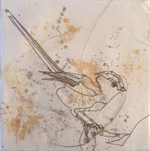 VERKOCHT Kunstwerkje Birds 6