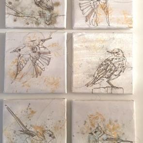 VERKOCHT Kunstwerkje Birds 2