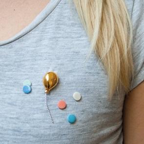 Ballon broche goud*