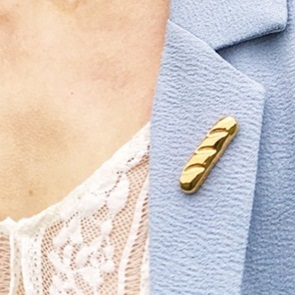Baguette broche gold*