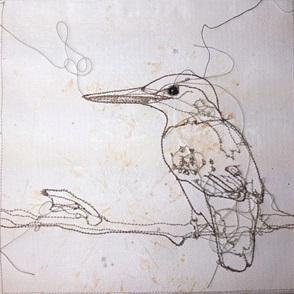 VERKOCHT Kunstwerkje Birds B