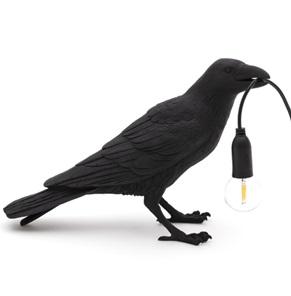 Vogel-lamp waiting zwart