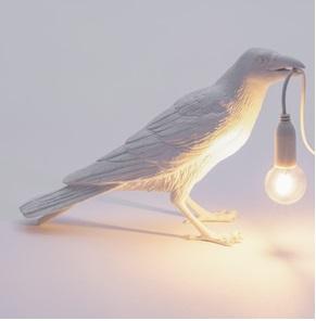 Vogel-lamp waiting wit