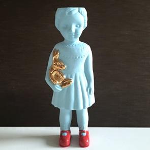 Blue doll open mind