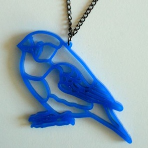 Ketting blue birdie*