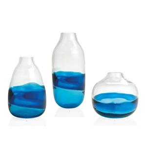 Blue twist B vase