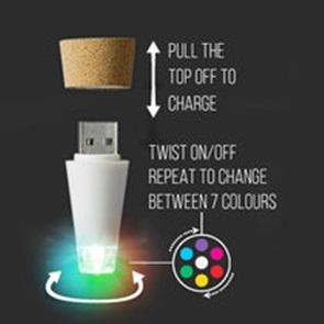 Bottle light cork colors