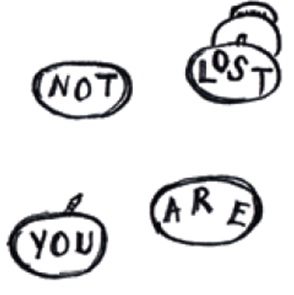 Broche set You are not lost.