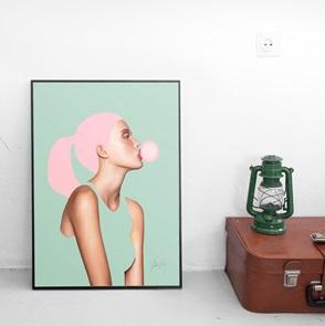 Kunst-print Bubblegum