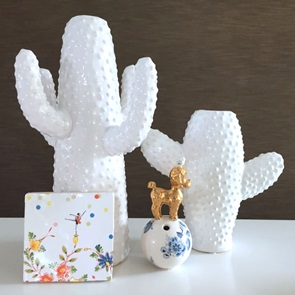 Cactus vaas Wit small