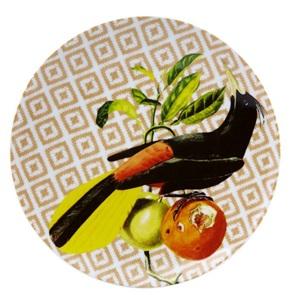 Bird and fruit plate