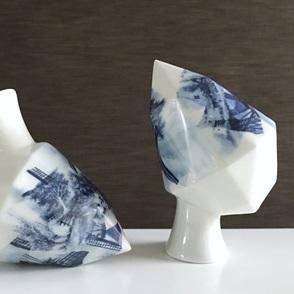 Diamond vaasje Delftsblauw