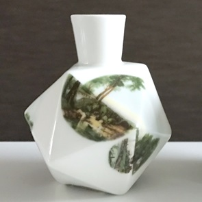 Diamond vase A Landscape