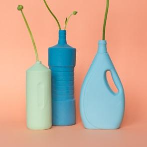 Bottle Vase #5 Dark blue