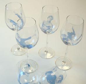 Wijnglas vrouw