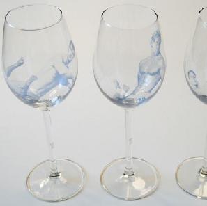 Wijnglas man