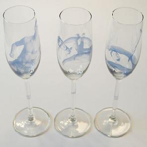 Champagneglas man
