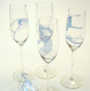 Champagneglas vrouw