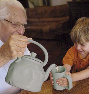 Grandpa theepot