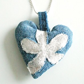 Jeans Hart ketting NIEUW