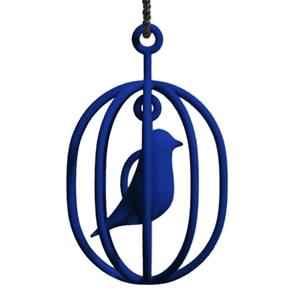 Ketting Happy Bird blauw XL