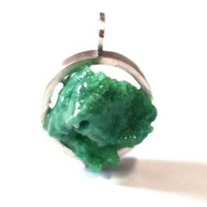 Candy Gem hanger zilver groen