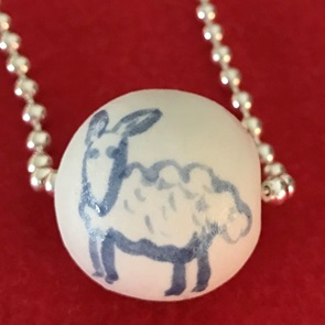 Ketting porcelain Sheep SOLD