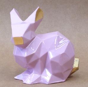 Porcelain bunny roze/goud