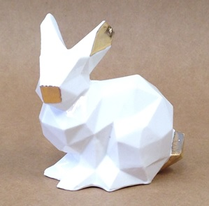 Porcelain bunny white/gold