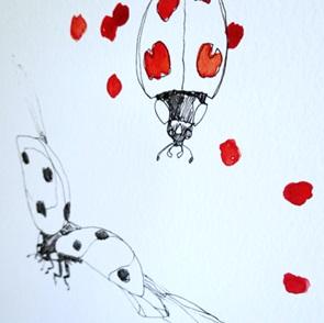 Lieveheersbeestjes Poster A4