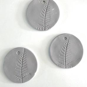 Plant stamp grijs