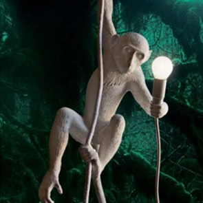 Monkey ceilinglamp with rope