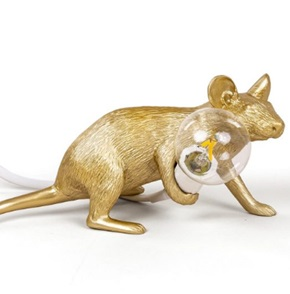 Mouse lamp liggend Goud