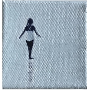 Kunstwerk Girl at the beach