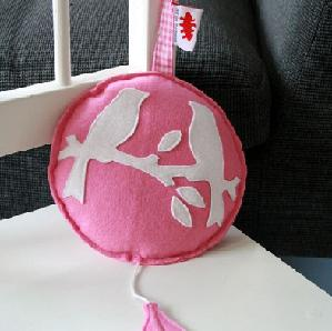 Musicbox Birds pink