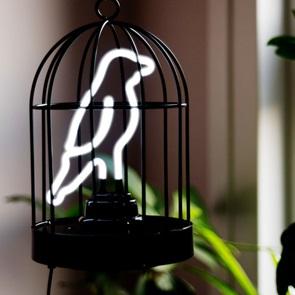 Neon Bird in cage