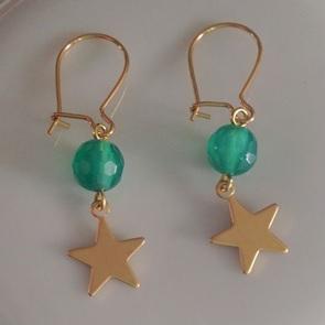 Oorbellen Groen ster*