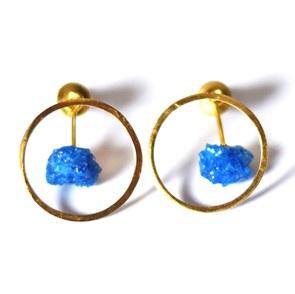 Candy Gem earrings gold blue